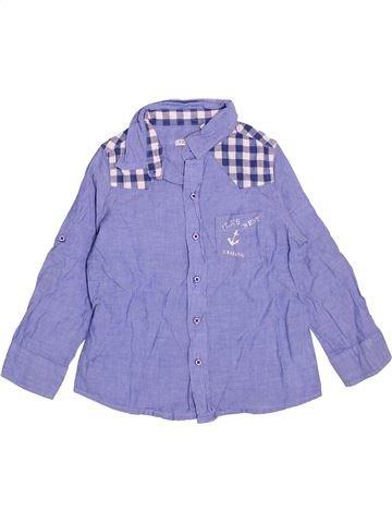 Chemise manches longues garçon IKKS bleu 3 ans hiver #1534178_1