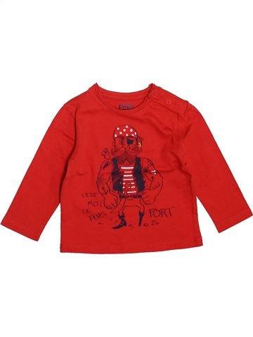 T-shirt manches longues garçon LA COMPAGNIE DES PETITS rouge 12 mois hiver #1534225_1