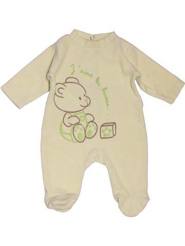 Pyjama 1 pièce unisexe KIMBALOO beige naissance hiver #1535453_1