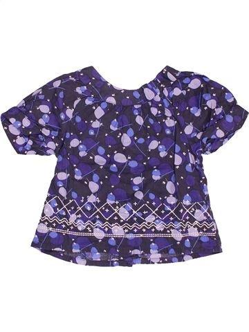 Blusa de manga corta niña VERTBAUDET azul 6 meses verano #1536355_1