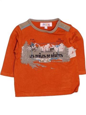 T-shirt manches longues garçon LA COMPAGNIE DES PETITS orange 6 mois hiver #1536537_1