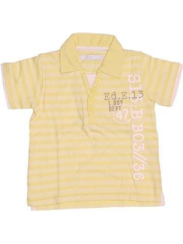 Polo manches courtes garçon GEMO beige 2 ans été #1536600_1