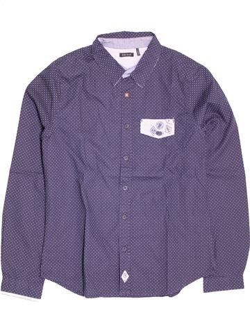 Chemise manches longues garçon IKKS bleu 12 ans hiver #1537099_1