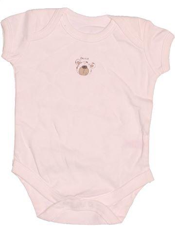 T-shirt manches courtes garçon MINI MODE blanc 3 mois été #1537364_1