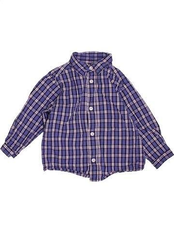 Chemise manches longues garçon BOUT'CHOU violet 12 mois hiver #1538026_1