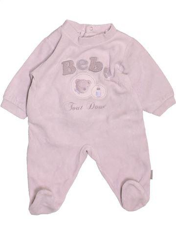 Pyjama 1 pièce garçon ABSORBA rose 1 mois hiver #1538421_1
