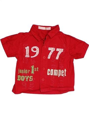 Chemise manches courtes garçon TAPE À L'OEIL rouge 6 mois été #1538473_1