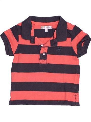 Polo manches courtes garçon KITCHOUN marron 9 mois été #1538475_1