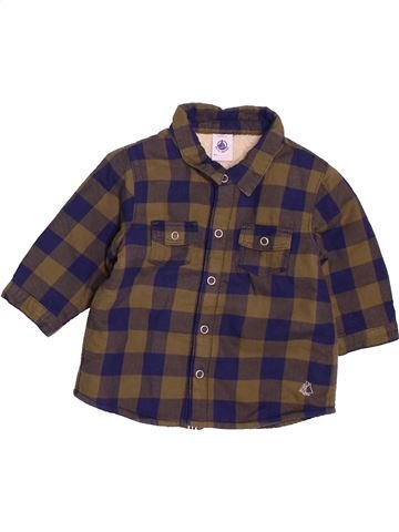 Chemise manches longues garçon PETIT BATEAU violet 6 mois hiver #1538508_1