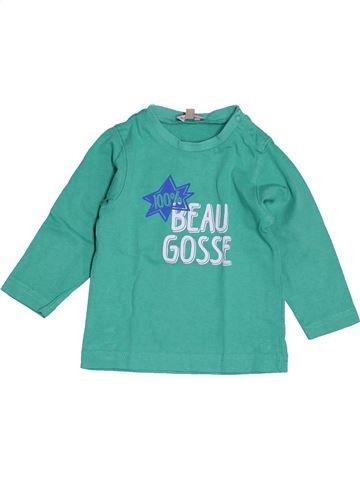 T-shirt manches longues garçon GRAIN DE BLÉ vert 6 mois hiver #1538567_1