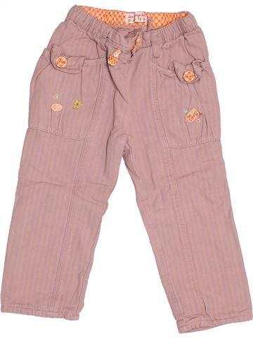 Pantalon fille LA COMPAGNIE DES PETITS rose 2 ans été #1538614_1