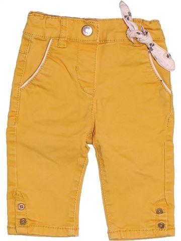 Pantalon fille OKAIDI jaune 3 mois hiver #1538719_1