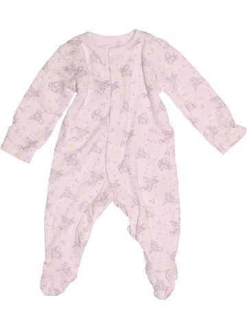 Pyjama 1 pièce garçon GEORGE rose 3 mois été #1539259_1
