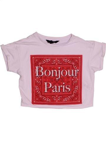 T-shirt manches courtes fille NEW LOOK rose 11 ans été #1539923_1