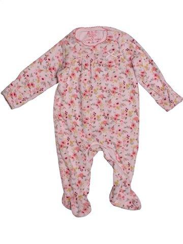 Pyjama 1 pièce fille F&F rose 3 mois hiver #1540594_1