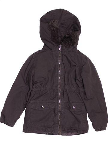 Manteau fille H&T marron 6 ans hiver #1541130_1