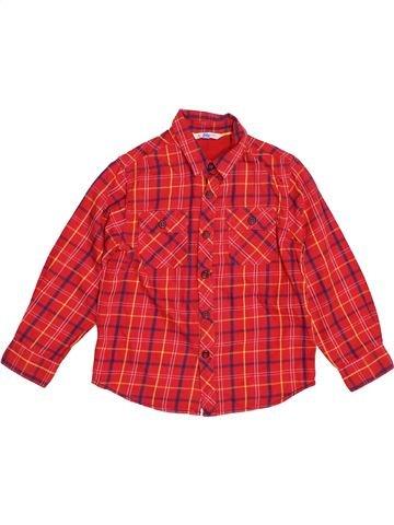 Chemise manches longues garçon JOHN LEWIS rouge 6 ans hiver #1541496_1