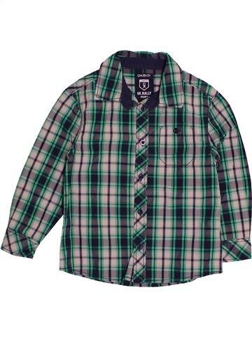 Camisa de manga larga niño OKAIDI verde 4 años invierno #1541511_1