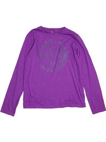 T-shirt manches longues garçon SANS MARQUE violet 14 ans hiver #1541605_1