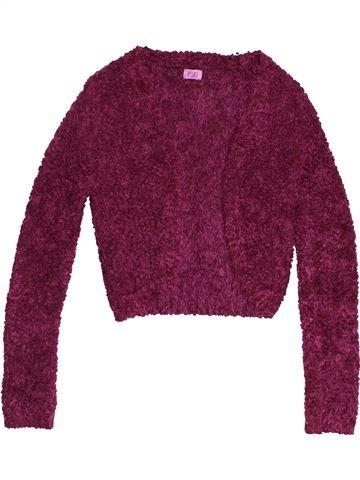 Gilet fille F&F violet 12 ans hiver #1541641_1