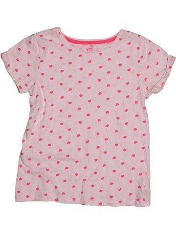 T-shirt manches courtes fille YOUNG DIMENSION rose 9 ans été #1541883_1