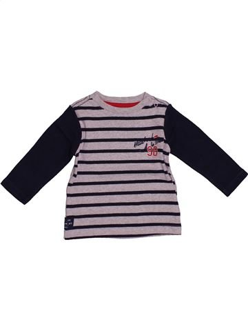 T-shirt manches longues garçon WEEK END A LA MER noir 18 mois hiver #1542377_1