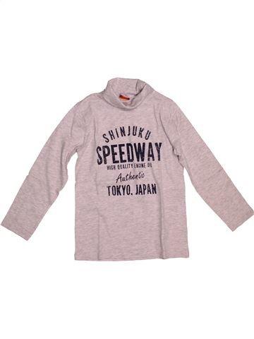 T-shirt col roulé garçon TAPE À L'OEIL gris 8 ans hiver #1542496_1