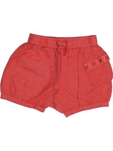 Short - Bermuda fille DPAM rouge 18 mois été #1542551_1