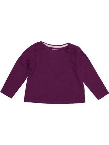 Camiseta de manga larga niña VERTBAUDET violeta 2 años invierno #1542792_1