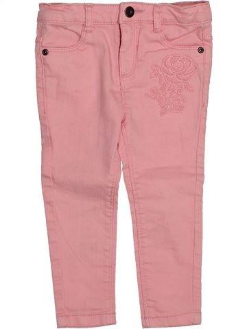 Pantalon fille VERTBAUDET rose 2 ans été #1542843_1