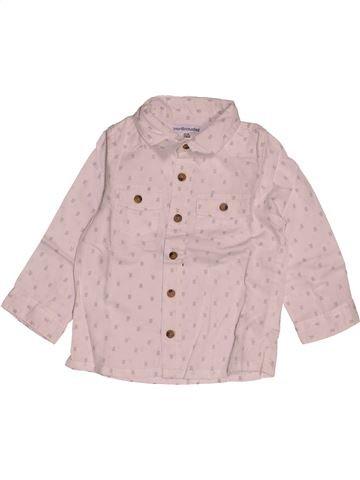 Camisa de manga larga niño VERTBAUDET rosa 18 meses invierno #1542969_1