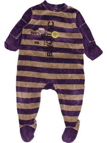 Pyjama 1 pièce garçon MARÈSE marron 12 mois hiver #1542981_1