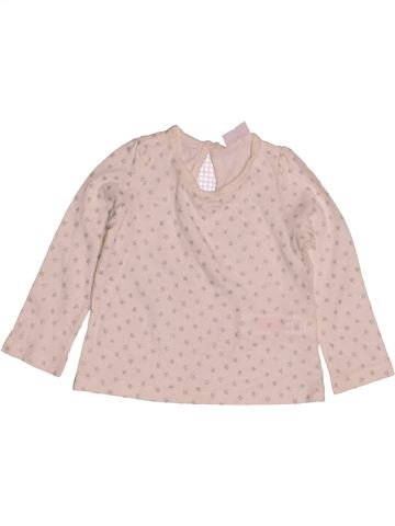 Camiseta de manga larga niña F&F rosa 9 meses invierno #1543025_1