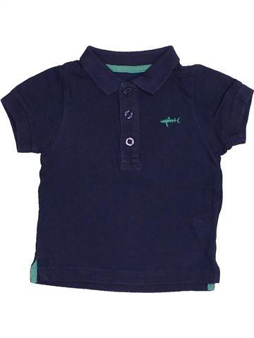 Polo manches courtes garçon KIMBALOO bleu 6 mois été #1543058_1