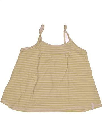 T-shirt sans manches fille OKAIDI beige 8 ans été #1543137_1