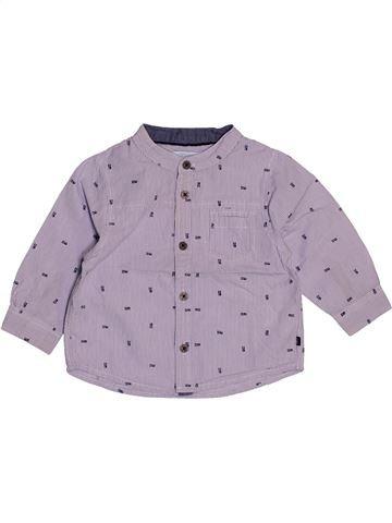 Chemise manches longues garçon OKAIDI violet 12 mois hiver #1543180_1