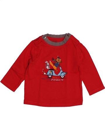 T-shirt manches longues garçon LA COMPAGNIE DES PETITS rouge 6 mois hiver #1543519_1