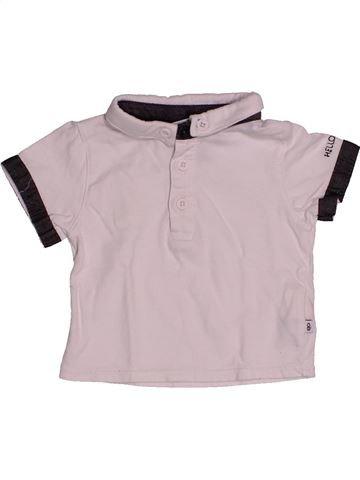 Polo de manga corta niño OKAIDI rosa 3 meses verano #1543553_1