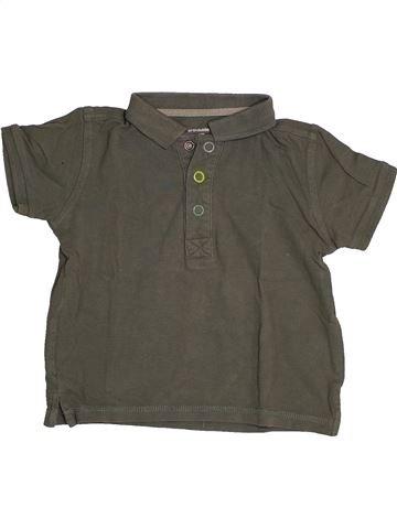 Polo de manga corta niño VERTBAUDET gris 3 años verano #1543600_1