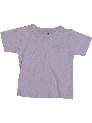 T-shirt manches courtes garçon PETIT BATEAU violet 2 ans été #1544096_1