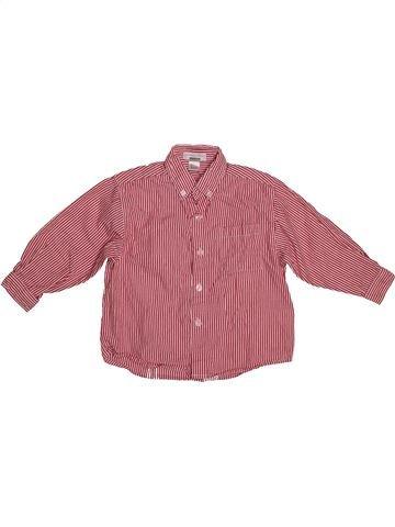 Camisa de manga larga niño VERTBAUDET marrón 3 años invierno #1544153_1