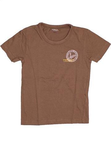 T-shirt manches courtes garçon VERTBAUDET marron 8 ans été #1544271_1