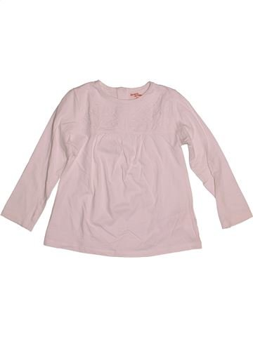 T-shirt manches longues fille DPAM rose 6 ans hiver #1544506_1
