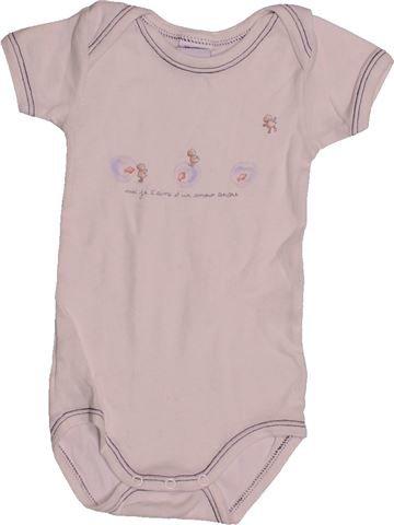 T-shirt manches courtes garçon PETIT BATEAU gris 3 mois été #1544656_1