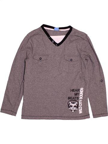T-shirt manches longues garçon KIDS gris 9 ans hiver #1545416_1