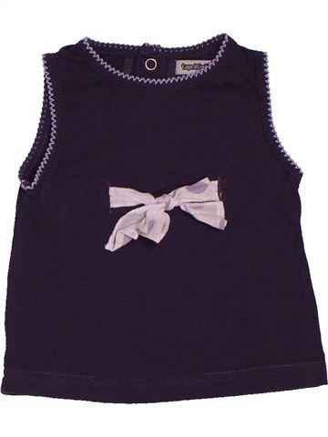 T-shirt sans manches fille TAPE À L'OEIL noir 6 mois été #1546940_1