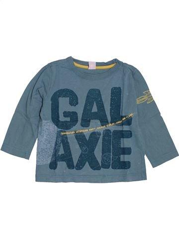 T-shirt manches longues garçon PETIT BATEAU bleu 4 ans hiver #1547382_1