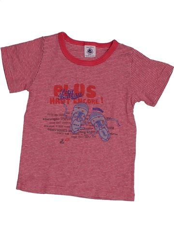 T-shirt manches courtes fille PETIT BATEAU rose 4 ans été #1548262_1
