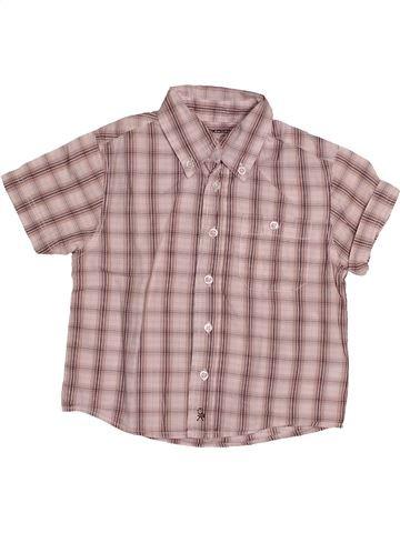Chemise manches courtes garçon OKAIDI beige 3 ans été #1548542_1