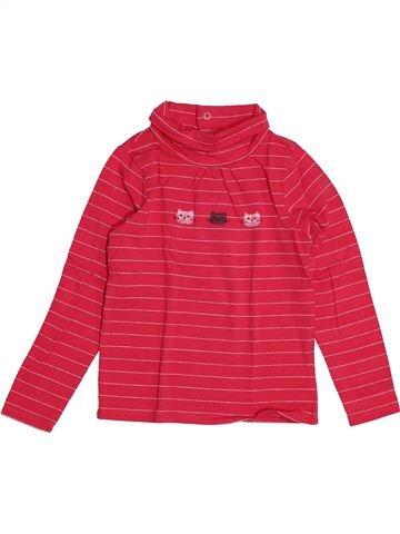 T-shirt col roulé fille CADET ROUSSELLE rose 4 ans hiver #1549151_1